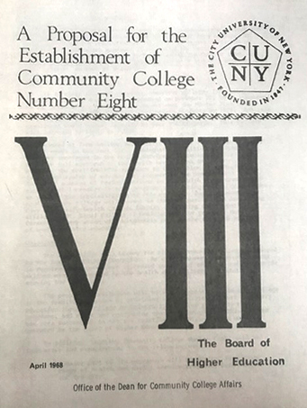 Proposal for the Establishment of Community College Number Eight