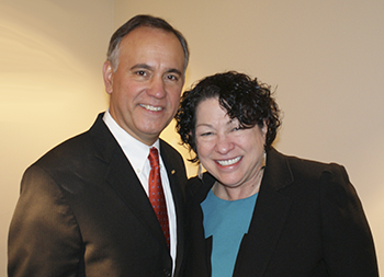 Hostos President Felix Matos Rodriguez and U.S. Associate Supreme Court Justice Sonia Sotomayor