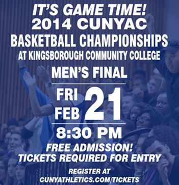 Poster for Hostos Basketball game