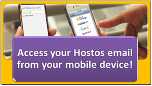 Access your Hostos email from your mobile device!