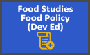 Food Studies Food Policy Dev Ed