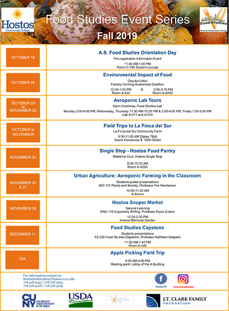 Food Studies Events Series Fall 2019