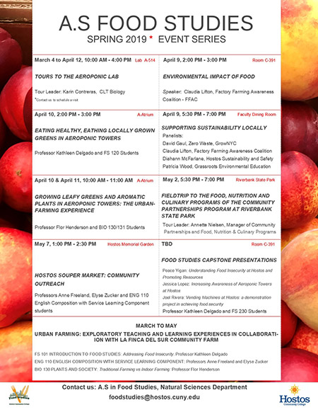 Food Studies Events Series Spring 2019