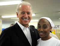Michele and Vice President Joe Biden