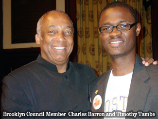Brooklyn Council Member  Charles Barron and Timothy Tambe
