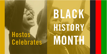 banner advertising Black History month