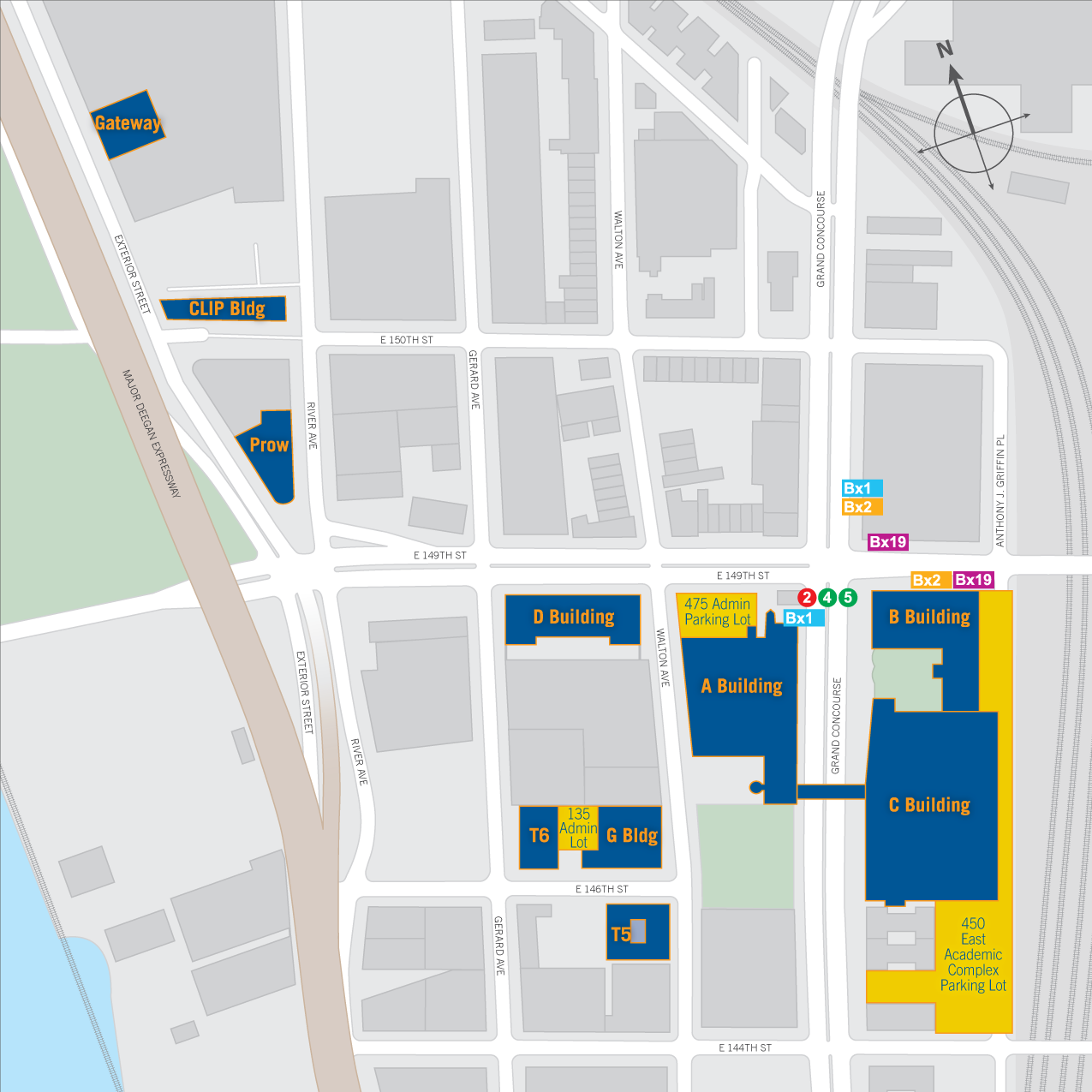 Campus Map Hostos Community College - Nyc parking map portal