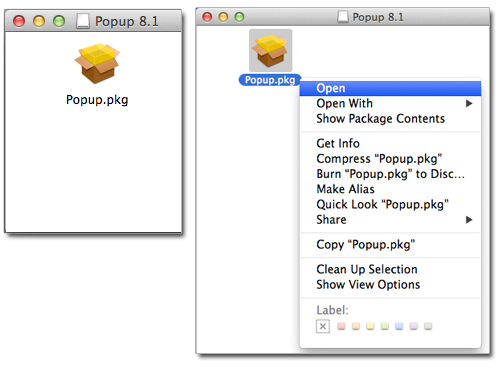 Pharos Popup 8.1 for Mac OS X