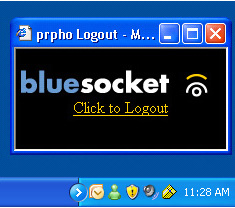 Step 7: Bluesocket Logout screen