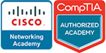 CISCO and CompTIA logos