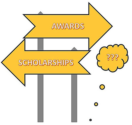 Awards. Scholarships. Help? banner