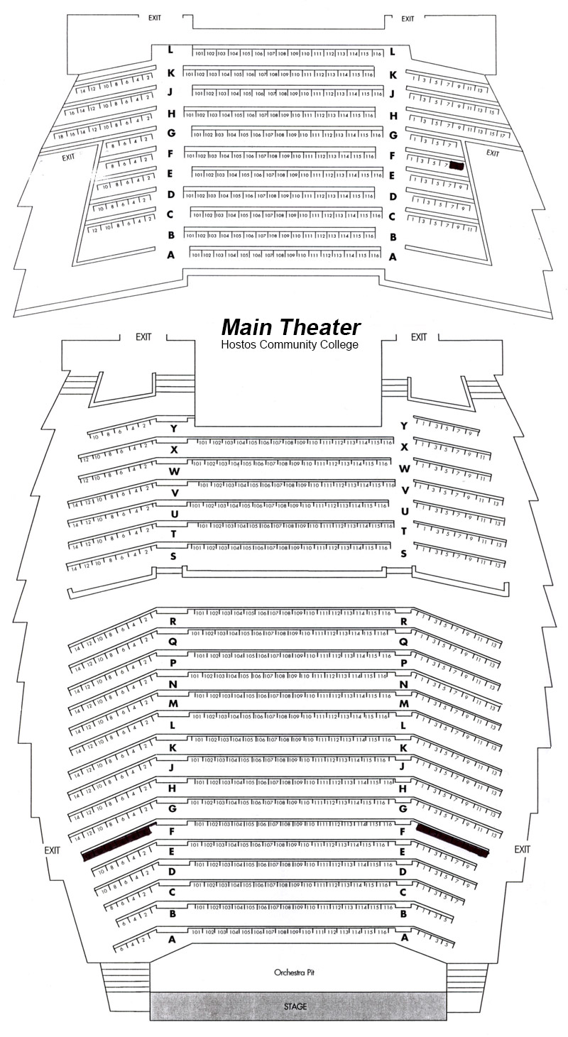 Hostos Main Theater Seating Chart
