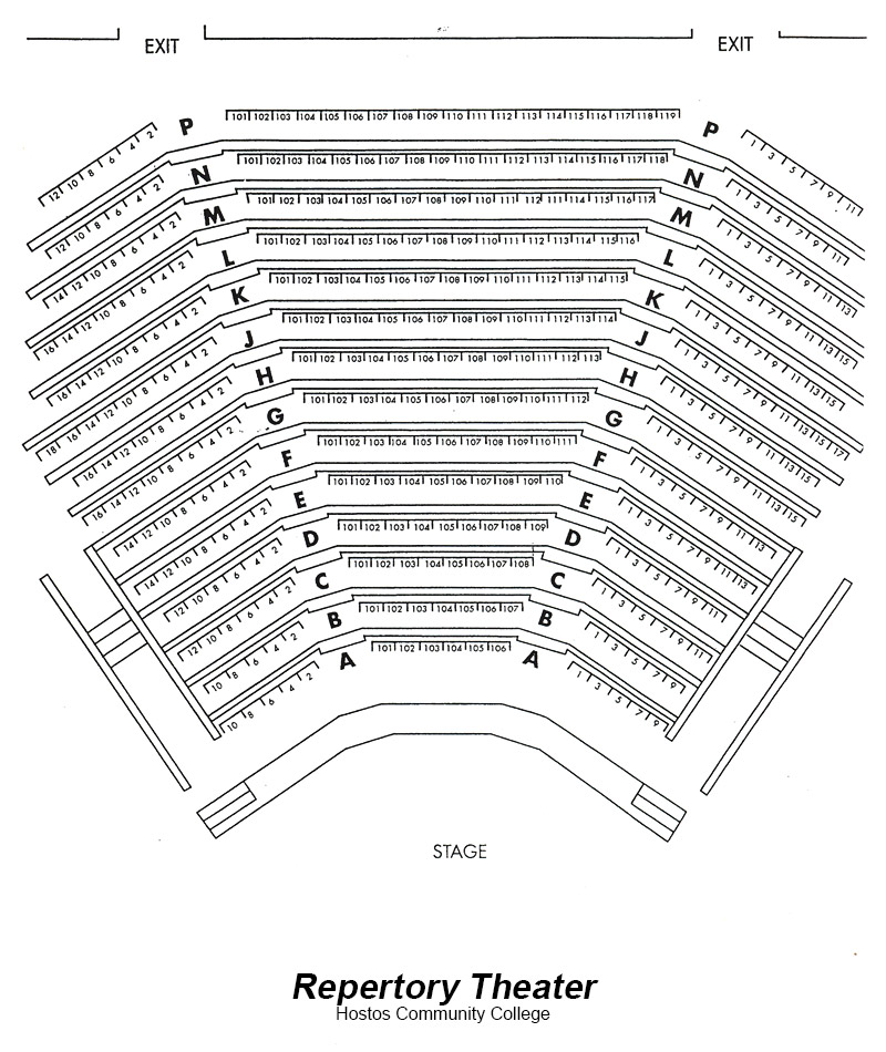 Hostos Repertory Theater Seating Chart