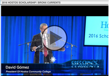 Video of Hostos President David Gomez speech
