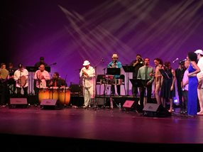 Musicians and artist performing for the 8th biennial celebration of Afro-Puerto Rican music and dance, BomPlenazo